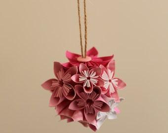 origami kusudama flower bauble