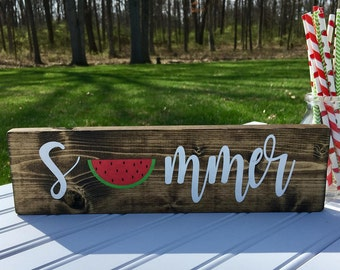 Summer Sign, Summer Decor, Watermelon Decor, Watermelon Sign, Picnic Decor