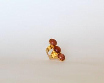 Golden Rain Ring, Lluvia de Oro Ring, Golden Rain Gemstone,  Lluvia de Oro, Adjustable Ring, Adjustable Golden Rain Ring, Statement Ring