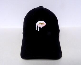 Lips | Black Dad Hat