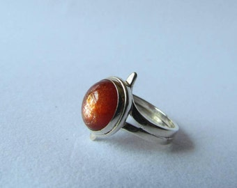 Sunstone Ring Silver 950