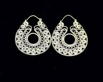 Earrings Priya/silver plated earrings/gipsy/boho