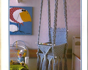 Macrame Baby Swing Pattern. 1970's Macrame Pattern. Nursery Decor. Instant PDF Digital Download.