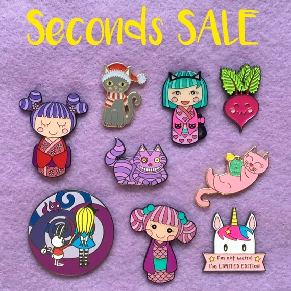 SECONDS SALE - Cute Kawaii Box Monster Enamel Pins