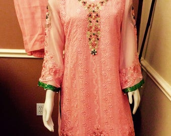 Sale Indian Pakistani party full embroiled dress eid sale