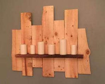 Hand made wall candle  holder