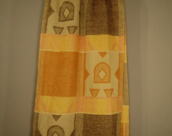 Second hand scarf wool 190cm scarf ethnic pattern pattern wool