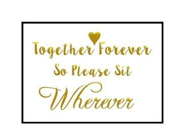 Foil sign, Foil wedding sign, Wedding signage, Custom foil print, Foil wedding, Custom foil signs, Wedding seating sign