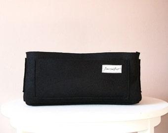 Bag in bag, bag organizer for Biancospino Bags, felter organizer, black organizer, Italian bag