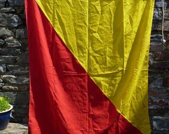 Man Overboard Again! Letter O Signal Flag. Beach House Decor