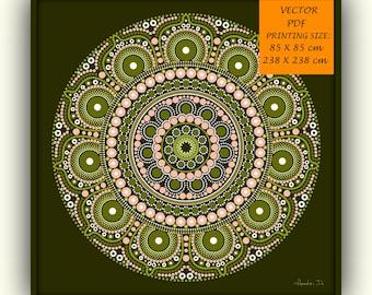 Green mandala,  mandala wallpaper ,  mandala print, digital mandala, printable mandala, mandala drawing, large mandala