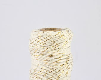 FULL SPOOL Metallic Gold Baker's Twine - 100m