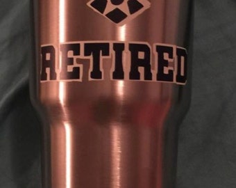 Retired Air Force Military Yeti Decal