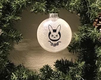 D.VA Inspired, DVA Inspired, Overwatch Inspired, Glitter Ornaments, Christmas Ornament, Vinyl Ornament, Overwatch Inspired Christmas