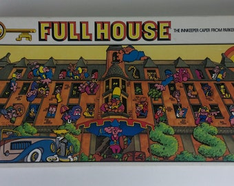 Full House The Innkeeper Caper from Parker Brothers - Vintage Board Game - Complete, Made in Canada 1979