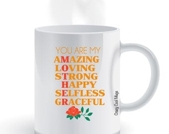 Mother Definition Coffee Mug, Mothers day gift, mom, amazing, loving, strong