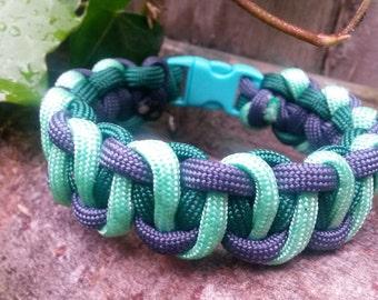 3 kleurige paracord armband