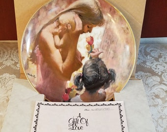 Hamilton Collection Thornton Utz Mother's Day 1983 A Gift of Love