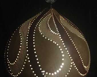 LED Gourd lamp, a unique art piece for any home decor.