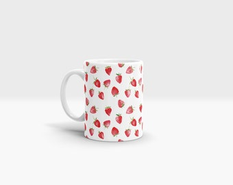 Strawberries Mug. 11oz Ceramic Mug.