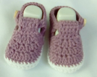 Bootie sandal to crochet for baby