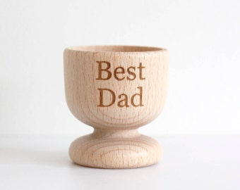 Best Dad Wooden Egg cup, Fathers Day Gift Egg Cup,  Personalised Egg Cup, Wooden Egg Cup, Fathers Day Gift, Engraved Wooden Egg Cup,Best Dad