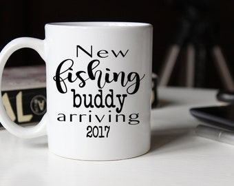 New Fishing Budding Arriving mug, Fathers day gift for New Dad, Pregnancy Reveal to husband, Grandpa Pregnancy Reveal, Dad mug