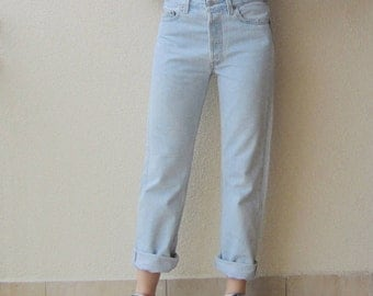 vintage 70s Levi Levis 501 Denim Jeans light blue