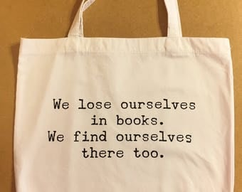 SALE**40% OFF** Tote Bag / Tote Bags / Tote / Totes / Books / Book Bag / Handmade / Birthday Gift / Gift for Her / Shopping Bag / Book
