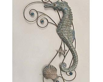 Seahorse Metal Wall Hanging - CW483