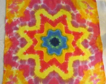 Tie Dye Bandana/ Tapestry