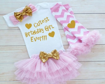 Birthday Girl Outfit, Girls First Birthday Outfit, Baby Girl Shirt, Princess Birthday Bodysuit, Cake Smash Outfit, Baby Girl Birthday Outfit