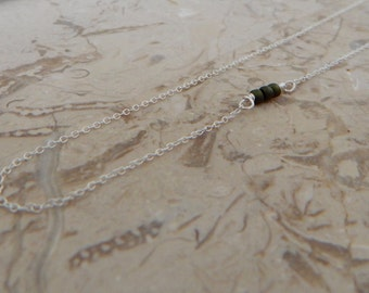 Delicate Off Center Necklace