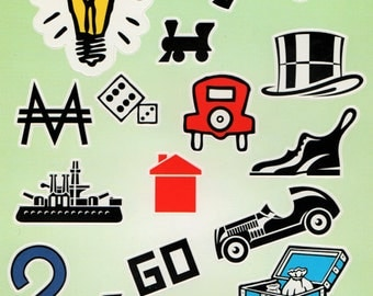 Monopoly American Craft Stickers Scrapbook  Embellishments Cardmaking Crafts