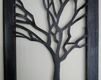 Cut Canvas - Shadow Tree