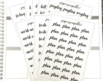 Custom Labels - matte planner stickers