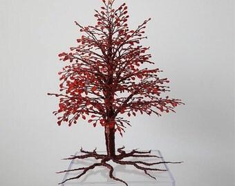 """wire tree """"autumn sunset"""""""