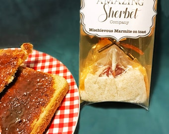 Marmite on Toast - Marmite Lollipop with Toast Sherbet
