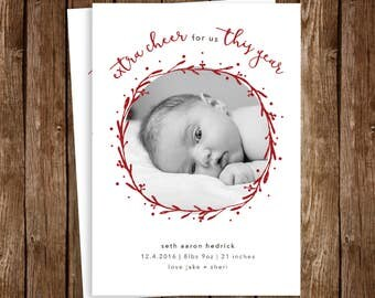 Holiday/Winter/New Years Birth Announcement - DIY Printable JPEG