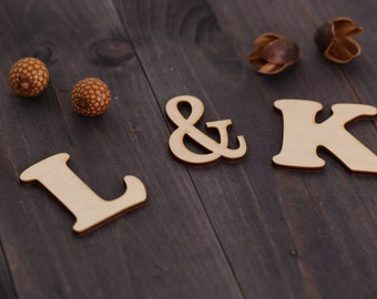 Cake Decor Letters : Cake wooden cutouts Etsy