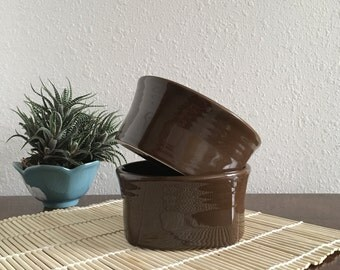 Fiestaware Square Soup Cereal Bowl in Chocolate by Homer Laughlin