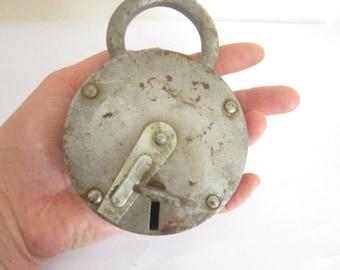 Retro Padlock with key,Soviet Padlock, vintage door lock,padlock decor, door lock USSR,Rusted Door Lock,Rusty Padlock