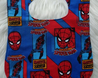 Spiderman feeding bib for babies and toddlers