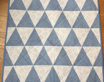 Hand Made Quilt, Periwinkle Blue