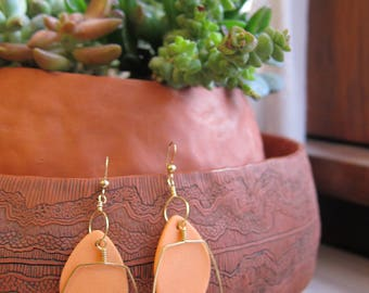 Orange Porcelain Earrings