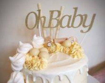 Sparkling Cake Topper PERSONALISED, Custom made. Various Colours, Baby Shower  Name, Baby Boy, Baby Girl, Boy or Girl, Baby Names,