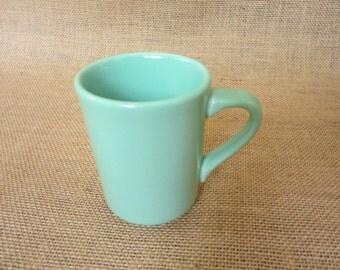 Vintage Homer Laughlin Fiesta Mug in Sea Mist Green, Denver Pattern