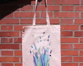 Bag plants printed embroidered by hand