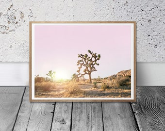 California Desert - Joshua Tree Print, Digital Download, Desert Wall Art, Southwestern Decor, Boho Print, Sunset Print, Wild Printable