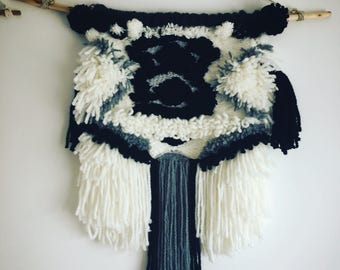 Fluffy weaving wall hanging, tapestry